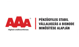 AAA Pénzügyileg stabil vállakozás a Bisnode minősítése alapján