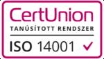 CertUnion tanúsított rendszer ISO 14001