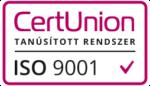 CertUnion tanúsított rendszer ISO 9001